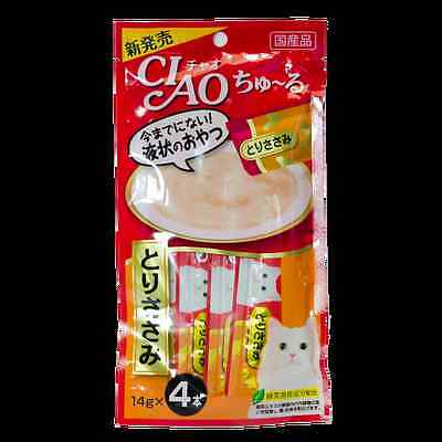 CIAO Churu Cat lick snacks  Flavor Chicken fillet (4 pack / pack).