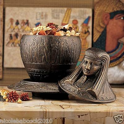 Ancient Egyptian Royal Sacred Initiation Ritual Plate Ornate Vessel Urn • CAD $75.26