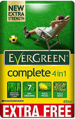 EverGreen 360sqm/400sqm  Complete 4-in-1 Lawn Feed Garden Moss Killer Cheapest!