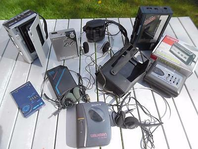 Collection of 8 Personal Cassette Players Radios & Recorder Sony Panasonic etc
