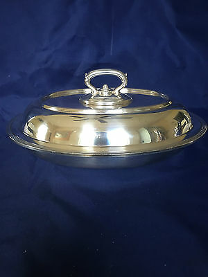 Antique Meriden Brittania Co Silverplate Covered Serving Dish 00649 (1852-1898)