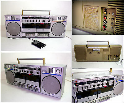 SILVER STW55 Radio Double Cassette Boombox (AUX in)