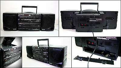 SHARP GX-CD130 CD Radio Double Cassette Boombox