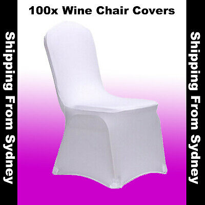 100X White Chair Covers Full Seat Cover Spandex Lycra Stretch Banquet Wedding Pa