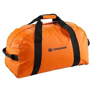 Caribee Kokoda 90L waterproof duffel large bag CHARCOAL with Orange + TSA LOCK