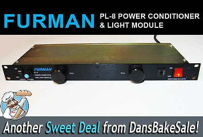 Furman PL-8 Power Conditioner and Light Module Rackmount in Excellent Condition