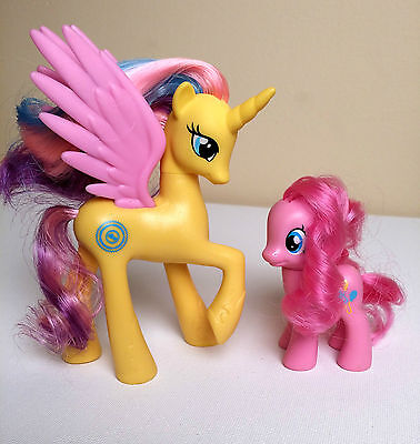 PRINCESS GOLD LILY AND PINKIE PIE- My Little Pony FIM- Rainbow Power- Lot of 2