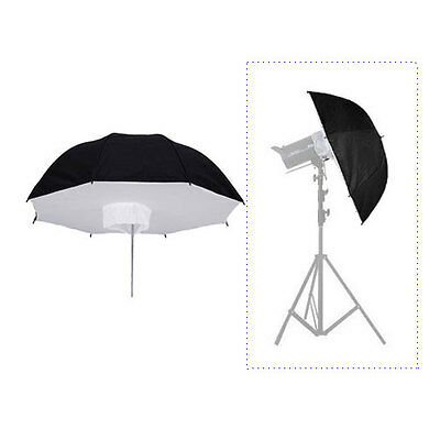 "Photo Studio 101cm/40"" Lighting Umbrella Softbox Black Reflective f Flash Strobe"