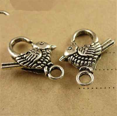 P1564 5pcs Antique Bronze Love bird Large LOBSTER CLAW CLASPS 20*13MM