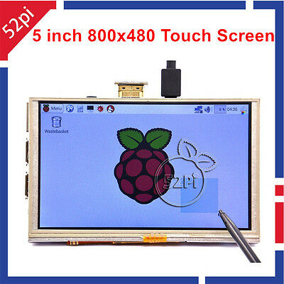 5 Inch 800*480 HDMI Resistive Touch Screen LCD Display for Raspberry Pi 2/3/B+