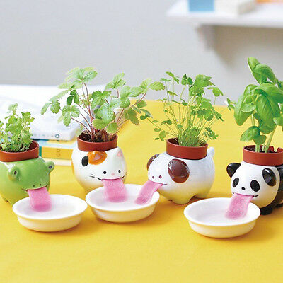 Ceramic Cultivation Peropon Drinking Animal Tougue Self Watering Planter LS30#