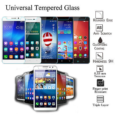 100% Genuine Tempered Glass Gorilla Screen Protector Flim For All Smart Phones