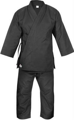 K.O Adult 14oz Premium Black Heavyweight European Cut Karate Kata Gi Suit