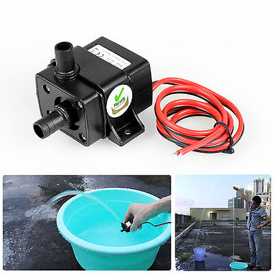 Brand New Mini DC12V 3m 240L/H Brushless Motor Submersible Water Pump Home RF