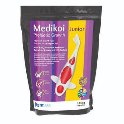 NT LABS MEDIKOI PROBIOTIC GROWTH 3mm Junior PELLET. KOI POND FISH FOOD