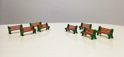 Outland Models Train Railroad Scenery Park / Garden Bench 8 pcs HO OO Scale 1:87