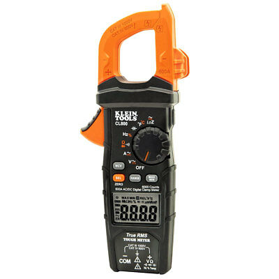 Klein CL800 600-Amperes 1,000-Volt AC/DC Auto-Ranging Digital Clamp Meter