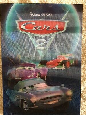 Disney Movie Club 3D Lenticular Card Cars 2