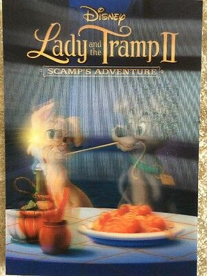 Disney Movie Club 3D Lenticular Card Lady And The Tramp II