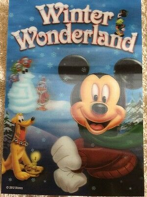 Disney Movie Club 3D Lenticular Card Winter Wonderland