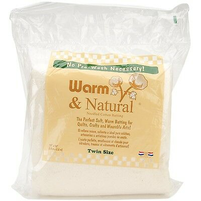 Warm Company Batting 72-Inch by 90-Inch Warm and Natural Cotton Batting Twin