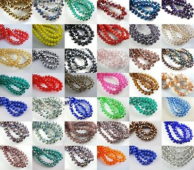 500Pcs Crystal Glass Faceted Rondelle Beads 4mm Spacer Loose Jewelry Finding