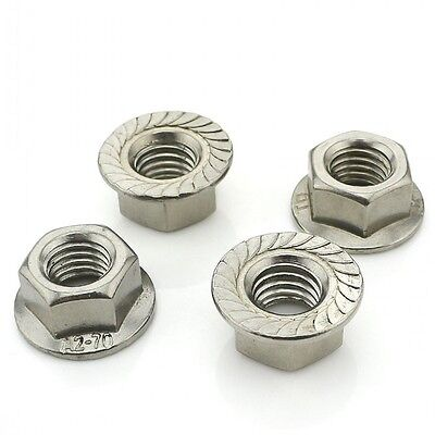M3 M4 M5 M6 M8 M10 M12 M16 Stainless Steel Serrated Flange Nuts Hex Lock Nuts