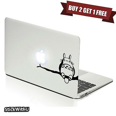 Macbook Air Pro Vinyl Skin Sticker Decal Anime Neighbor Totoro Ghibli Cute m805