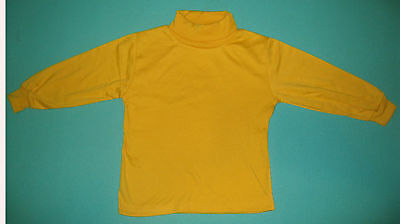 NEW unisex Skivvy perfect for school Gold size 5 to 12