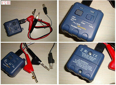 Fluke Networks PRO3000 Tone Generator with ABN Clips and RJ11 Plug