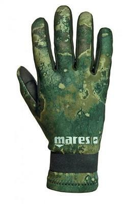 Mares Amara 2mm Green Camo Scuba Divers Gloves - X-Large
