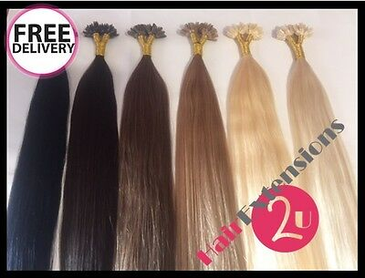 50 x22 Inch DOUBLE DRAWN Indian Remy Pre Bonded U/ Nail Tip Hair Extensions 1G