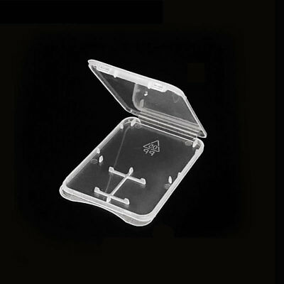 Transparent Plastic Storage Case Holder Cover for SD SDHC SDXC and Micro SD Card