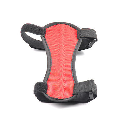 Polyester Archery Accessory Red Arm Guard 2 Strap Hunting Protection 1pc