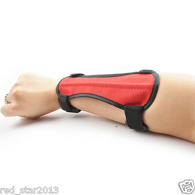 Sport Arm Guard Archery Accessory Red 2 Strap Polyester Shooting Protection