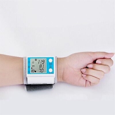 LCD Digital Automatic Wrist Blood Pressure Monitor Heart Beat Pulse Meter GT