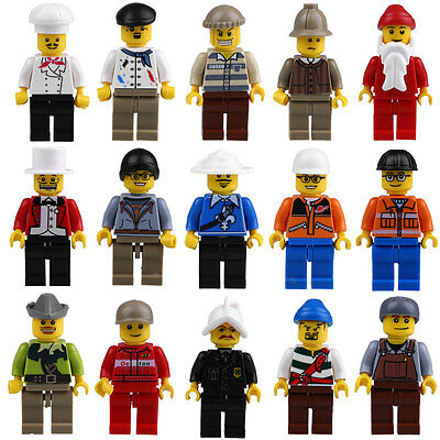 20pcs/Lot Minifigs Mini Figures Men People Professional Role Minifigures Toy Set