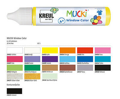 Window Color Stifte für Kinder, MUCKI, Window Color Malfarbe vegan 29 ml