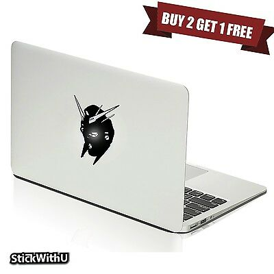 Macbook Air Pro Vinyl Skin Sticker Decal Gundam Anime Glowing Robot Head m817