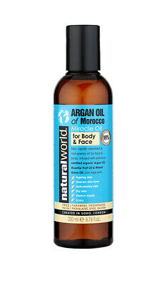 Natural World Argan Oil of Morocco - Miracle Oil for Face & Body 200ml
