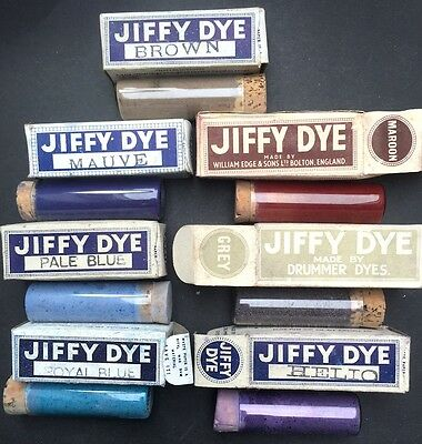 1940s Wartime JIFFY DYE for Cotton + Wool Choice of Colours