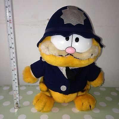 Vintage Garfield Plush Soft Toy Policeman 1981 Dakin Retro Collectable Rare