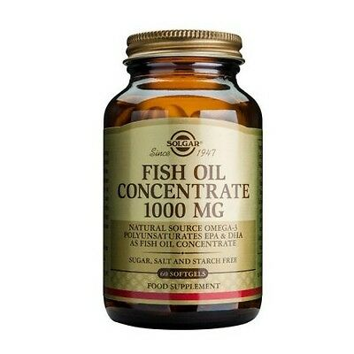 Solgar Fish Oil Concentrate 1000 mg Softgels 60