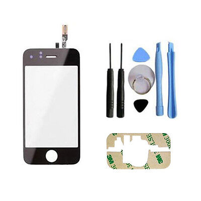 TOUCHSCREEN DISPALY FRONT GLAS SCHEIBE DIGITIZER TOUCH SCHWARZ FÜR iPHONE 3GS