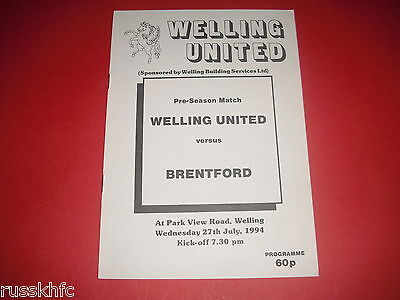 1994/95 Friendly Welling V Brentford