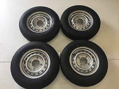 "4 X 165R13C 8 Ply 4 Stud 5.5"" Pcd Trailer Wheels And Tyres/ifor Williams"