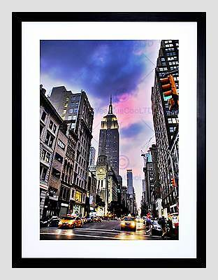 New York Empire State Building Black Frame Framed Art Print Picture B12X8726