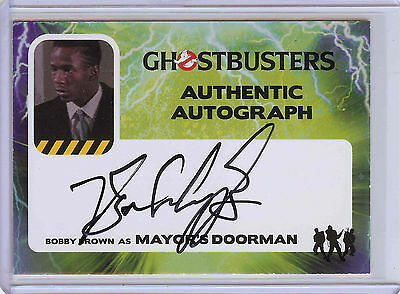 2016 Cryptozoic Ghostbusters Bobby Brown Authentic Autograph Card #BB Auto