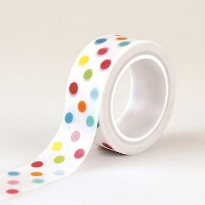 Echo Park Colorful DOTS Summer Decorative Tape 15 Feet Washi Scrapbook Journal