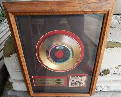 The Beatles I Want To Hold Your Hand Gold Record Framed Capitol Records Rare